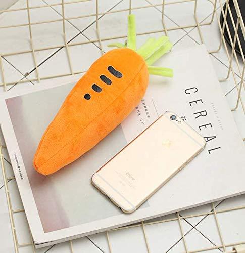 Gwill - Estuche para lápices de zanahoria o zanahoria (3 bolsas), diseño de zanahoria