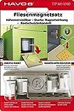 WTD Mantiburi Kit de magnétique Carreaux Aimants, réglable en Hauteur, 8pièces, pour Fermeture Invisible de contrôle Ouvertures. pour Chaque Format pour carrelage.