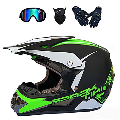 ESASAM Motocross Motorradhelm Downhill Fullface Helm & Endurohelme,Adult Off Road...