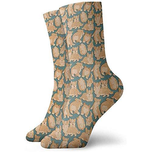 uytrgh Lässige Crew Socken Niedliche Corgi Söckchen Kurzes Kleid Kompressionssocken BreathableBeautiful 6247