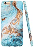 A-Focus Case for iPhone 6s Case, iPhone 6 Case, Blue Green Marble Texture Rock Stone IMD Design Protective Shock Proof Flexible Slim TPU Case for iPhone 6 iPhone 6s 4.7 inch Glossy Yellow Blue