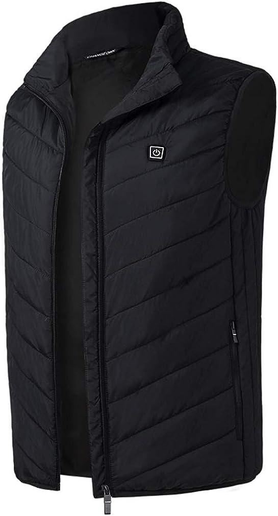 CIKRILAN Men's Quilted Heated Vest Heating Winter Outdoor Gilet Sports Waistcoat