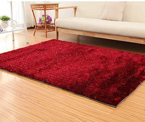 Zhao Li vloerbedekking tapijten voor slaapkamers dikker moderne versleuteling gebied tapijt zijdezachte gladde tapijten pluizige tapijten anti-slip voor woonkamer tapijten