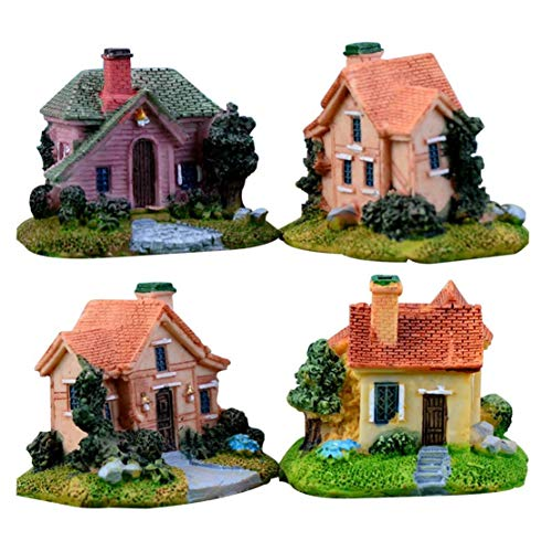 BYFRI 1pc Miniatur-fee-Garten Steinhäuser Puppenstuben DIY Dekor-Ornamente Zubehör Für Outdoor, Terrasse, Micro Landschaft Blumentopf Zufälliger Stil