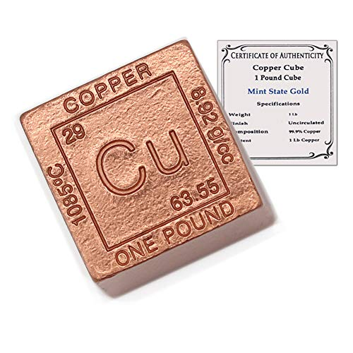 1 Pound Copper Cube Paperweight - 999 Pure Chemistry...