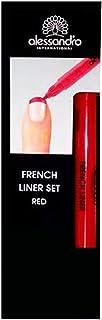 Alessandro French Style French Liner Red - Manoplas para manicura y pedicura, color rojo
