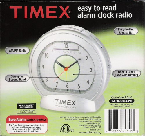 Timex Easy to Read Alarm Clock Radio