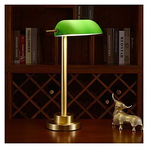 NYKK Lámpara de Mesa Retro Simple Lámpara de Escritorio LED Regulable con lámpara Verde de la lámpara de Carga con 3 Niveles de atenuación, Control táctil