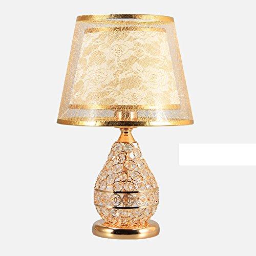 Tischlampe Kristall Tischlampe American Creative Warm Tischlampe ( Farbe : Gold )