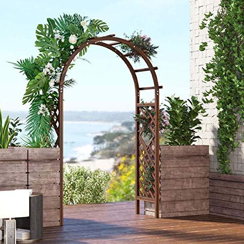 Outech Arco de Jardín Resistente, Enrejado de Arco para Rosas de Boda de Madera Grande de 1,2 M 1,4 M, Utilizado para Plantas Trepadoras, Césped, Terraza, Exterior, Fácil Instalación