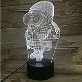 Jouet cadeau de noël 3D Night Light Lampe Bébé cadeau Veilleuse ou Batterie Alimenté Bureau Décoratif Lampe OLED lumière 7...