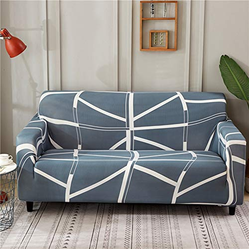 Universal Four Season Non-Slip Sofa Covers Stretch All-Inclusive Polyester Slipcover Covers for 1/2/3/4 Seater (3 Seater 185-230cm,E)