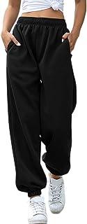 Chinateraau High Elastic Waist Loose Sweatpants Women Pure Color Sport Joggers Trousers