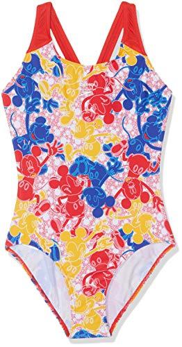 Speedo Disney Mickey Mouse Badeanzug für Mädchen, Mädchen, Badeanzug, 807386C820, Mickeycamo blau/rot/gelb, 116