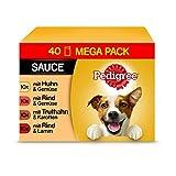 Pedigree Adult Hundenassfutter für ausgewachsene Hunde im Portionsbeutel – verschiedene Sorten