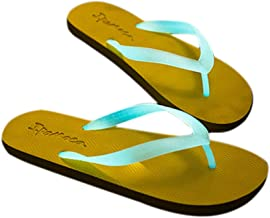 ViewHuge Summer Glow in The Dark Beach Flip-Flops Unisex Couple Luminous Slippers Flat Sole Shoes