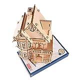 Modelo de rompecabezas de madera, rompecabezas de villa de madera en 3D, juguete educativo, manualidades, rompecabezas, modelo de ensamblaje, regalo ideal y adorno fino, construcción de modelos, regal