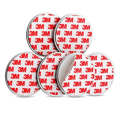 SEBSON Magnethalterung, Magnetpads, Magnetbefestigung für Rauchmelder, selbstklebend, 6er Pack