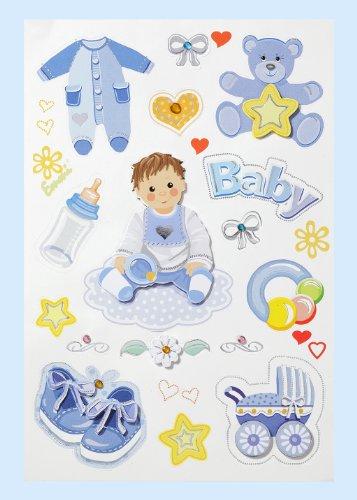 Creapop sticker * Baby Boy - doop - geboorte * sticker