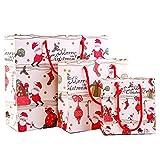 Pigeon Fleet 1 Set Bolsas de Regalo de Papel de Navidad Bolsas de Boutique para Envolver