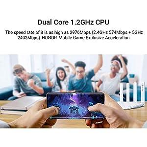 HONOR Ehren Router 3 Wi-Fi 6+WLAN Router 1000Mbit/s Dual Core 2976Mbps WiFi Router Dualband Gigabit 2.4GHz/5GHz Access Point 3 LAN+1 WAN APP Steuerung Enhanced Router WiFi, Weiß