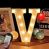LED Buchstabe Lichter Alphabet Zeichen mit drahtloser Timer Fernbedienung Dimmable Led dekoration...