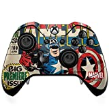 Skinit Decal Gaming Skin Compatible with Xbox One Elite Controller - Officially Licensed Marvel/Disney Captain America Big Premier Issue Design