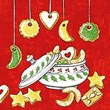 Mank Airlaid-Servietten 40x40 cm | Premium Einweg-Serviette | textilähnlich und saugstark | perfekt für Weihnachtsfeiern & Adventsfeiern | Weihnachtsservietten | 50 Stück | Merle