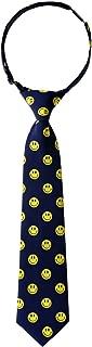 Retreez Happy Smiley Face Emoticon Woven Pre-tied Boy's Tie - Various Colors