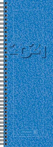Brunnen Tischkalender blau hoch 1Woche/2Seiten 2021