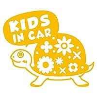 imoninn KIDS in car ステッカー 【シンプル版】 No.53 カメさん (黄色)
