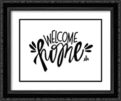 Artist: Barrett, Erin / Title: Welcome Home High Quality Framed Giclee Art Print Direct from Museum Prints Framed in a Black Ornate Wood Frame with Double Matting by Crescent In Stock and Framed When Purchased Made in the U.S.A. and Satisfaction is G...