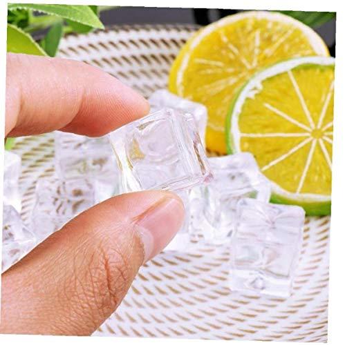 PiniceCore 10pcs Artificial De Hielo Cubos De Hielo De Acrílico Cristal De Frutas Cerveza Whisky Bebidas Decoración del Hogar Accesorios Fotografía Apoya