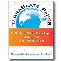 "TerraSlate用紙7Mil 8.5"" X 11""防水レーザープリンタ/コピー用紙 500 Sheet Carton"