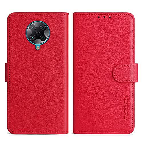 FMPCUON Handyhülle Kompatibel mit Xiaomi Redmi K30 Pro/K30 Pro zoom/K30 Ultra/Xiaomi Poco F2 Pro (6.67 Zoll),Premium Leder Flip Schutzhülle Tasche Hülle Brieftasche Etui Hülle für Redmi K30 Pro,Rot
