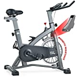 MEVEM Indoor Cycling Bike-Belt Drive Indoor Magnetic Exercise Bike,Indoor Stationary Bike for Home Cardio Gym Workout (Grey)