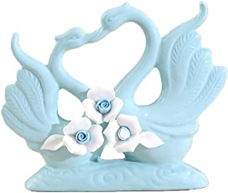 ZGPTX Swan Ceramic Ornaments in The Living Room Coffee Table Table Tv Cabinet Wine Cabinet Set Up Room Gifts