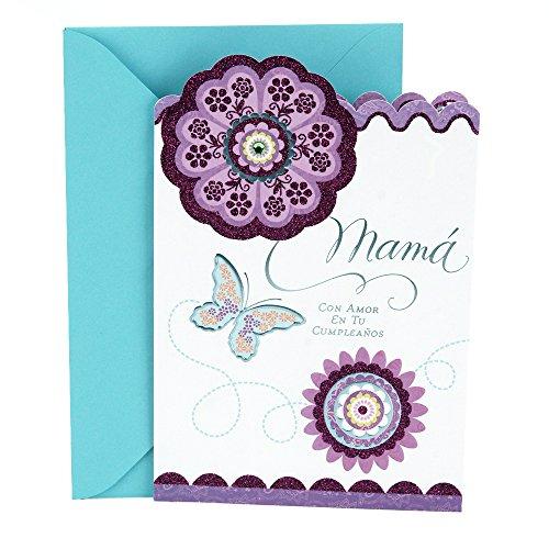 Hallmark Vida Spanische Geburtstagskarte für Mutter (dimensionale Blume)