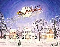 番号によるDiyペイントメリークリスマスサンタクロース白雪姫クリスマスギフトデジタル絵画番号子供のためのキャンバス上の絵画初心者のための絵画