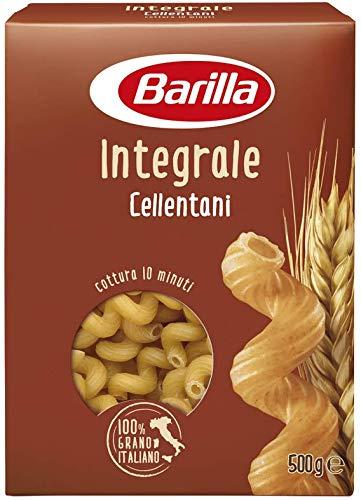 Barilla Pasta Cellentani Integrali, Pasta Corta di Semola Integrale di Grano Duro, Integrale, 500 g