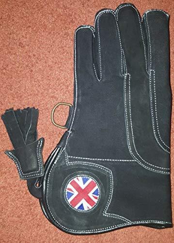 ALTAWASH Falken Handschuh mit Logo, dreifache Schicht Nubuk Leder 12cm lang Gr. 3Schichten Gr. L, REGULAR