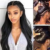 Maxine Pre Plucked 360 Encaje frontal peluca 130% densidad recta Remy brasileña Cabello humano 360 Pelucas con correas ajustables para las mujeres 20 pulgadas línea de pelo natural con pelo de bebé