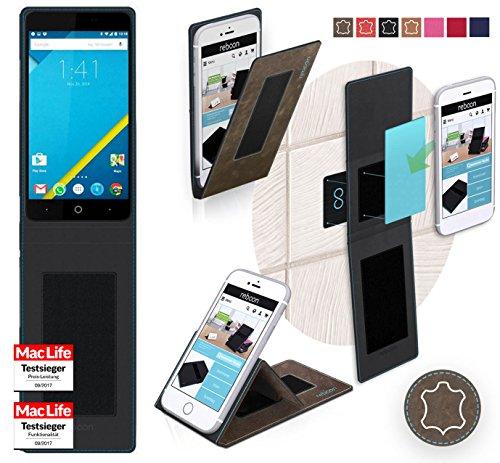 reboon Hülle für Elephone P6000 Pro Tasche Cover Case Bumper | Braun Wildleder | Testsieger