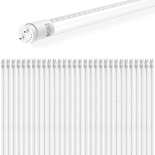 Sunco Lighting 30 Pack 4FT T8 LED Tube, 18W=40W Fluorescent, Clear Cover, 5000K Daylight, Single Ended Power (SEP), Ballast Bypass, Commercial Grade - UL Listed