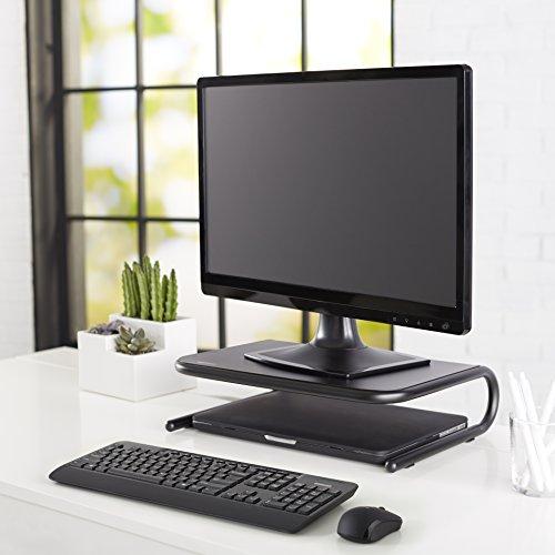 AmazonBasics Metal Monitor Stand - Black