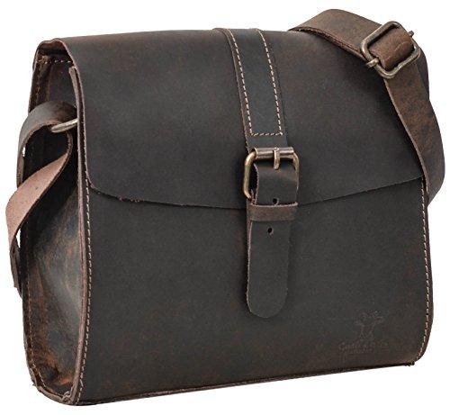 Gusti Umhängetasche Handtasche Vintage Braun Leder