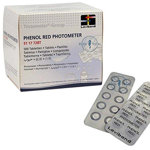 Phenol Red PHOTOMETER 500 Tabletten (50 Streifen) Markenqualität von Lovibond Tintometer