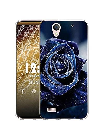 Sunrive Kompatibel mit Sony Xperia C4 Hülle Silikon, Transparent Handyhülle Schutzhülle Etui Hülle (Q Rose 2)+Gratis Universal Eingabestift MEHRWEG