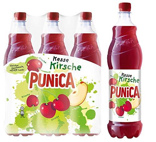 Punica Classic Kesse Kirsche – Fruchtig frisches Mehrfruchtsaftgetränk – 6 x 1,25l Flasche