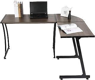 Hoekbureau L-vormige Computertafel, Bureau Gamingtafel, Ruimtebesparend, voor Thuis en Op Kantoor